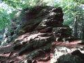 Veřejová skála na hoře Velký Blaník.
